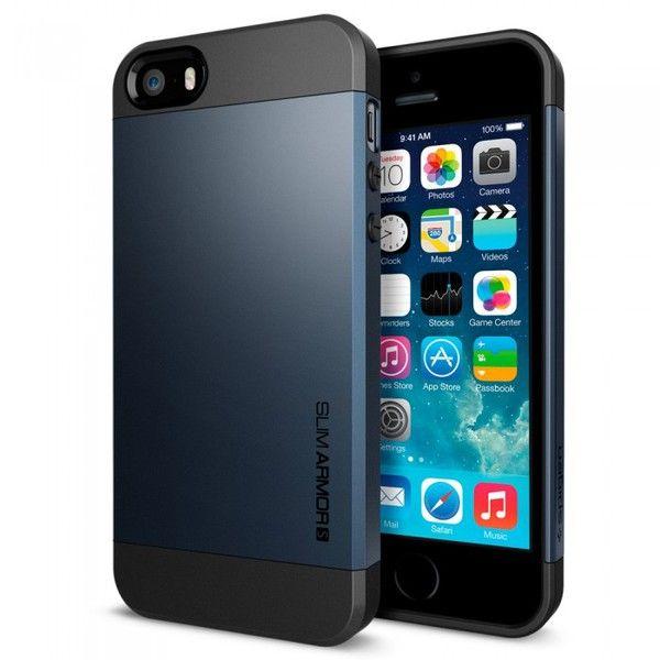 Spigen iPhone 5/5s Case Slim Armor S Metal Slate