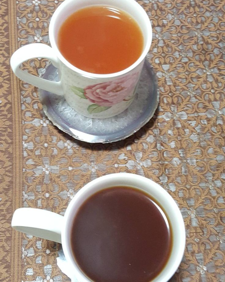 Lemon honey tea. And honey tea.