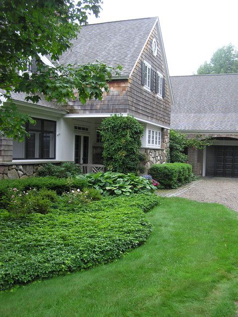 Light Colored Gravel Gray House Landscaping Ideas