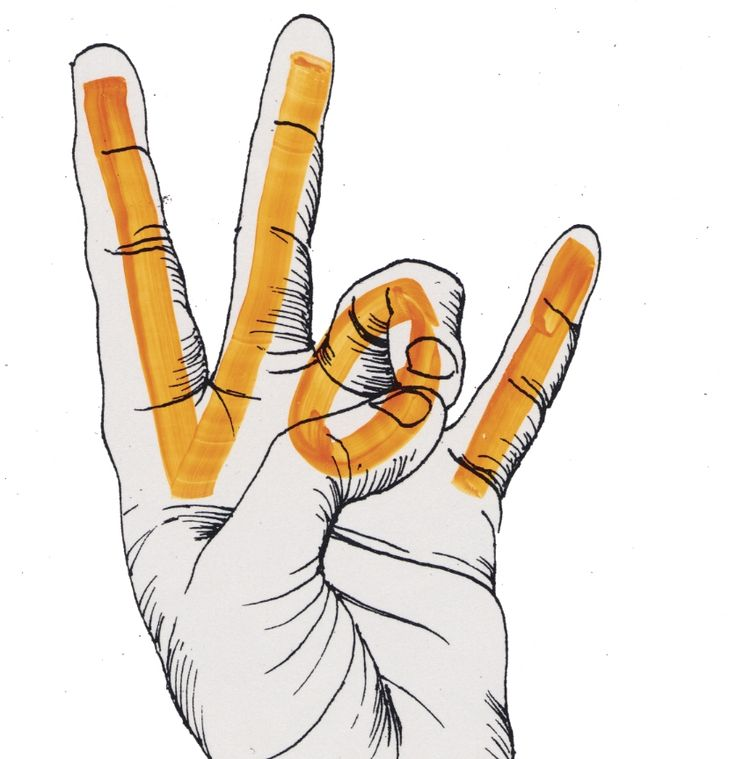 """Give 'em the Vol! University of Tennessee """"Vol"""" hand sign."""