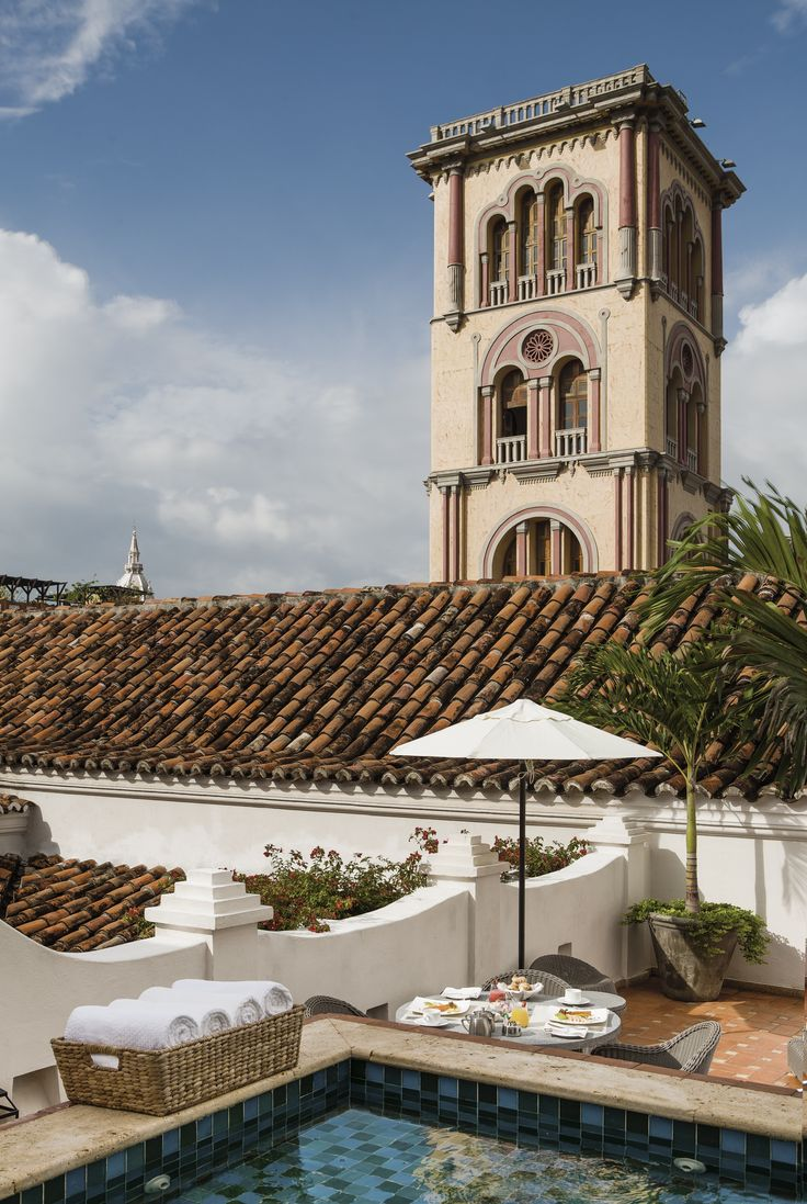 Suite de Virrey and plunge pool at Casa San Agustin (Old City of Cartagena de Indias)