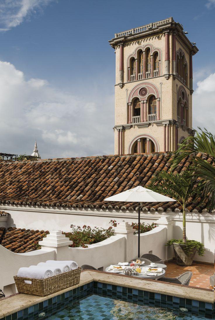 Suite de Virrey and plunge pool at Casa San Agustin (Old City of Cartagena de Indias)