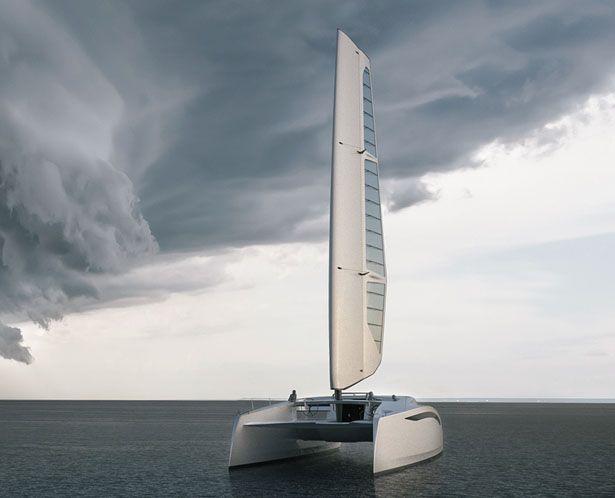 Zero Sail Concept Sailing Yacht by Julius Graupner and Thor Unbescheid