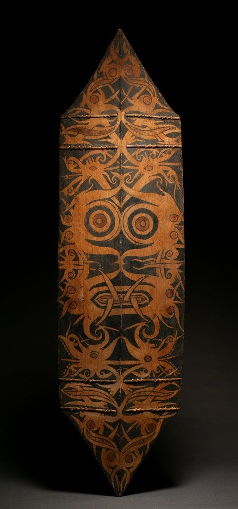 Dayak War Shield | Borneo, Indonesia | Wood with natural pigment color | 19th century