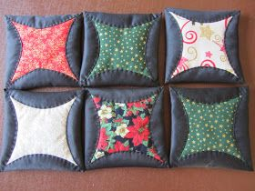 Japanese Folded Patchwork - Great tutorial♥♥♥                                                                                                                                                                                 More