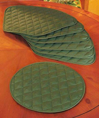 Round Table Placemats (Set Of 7)   Green By ABC Distributing. $28.53.