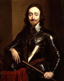 Charles Ier par Antoine van Dyck vers 1630 - Roi d'Angleterre et d'Irlande Roi des Écossais 27 mars 1625 – 30 janvier 1649