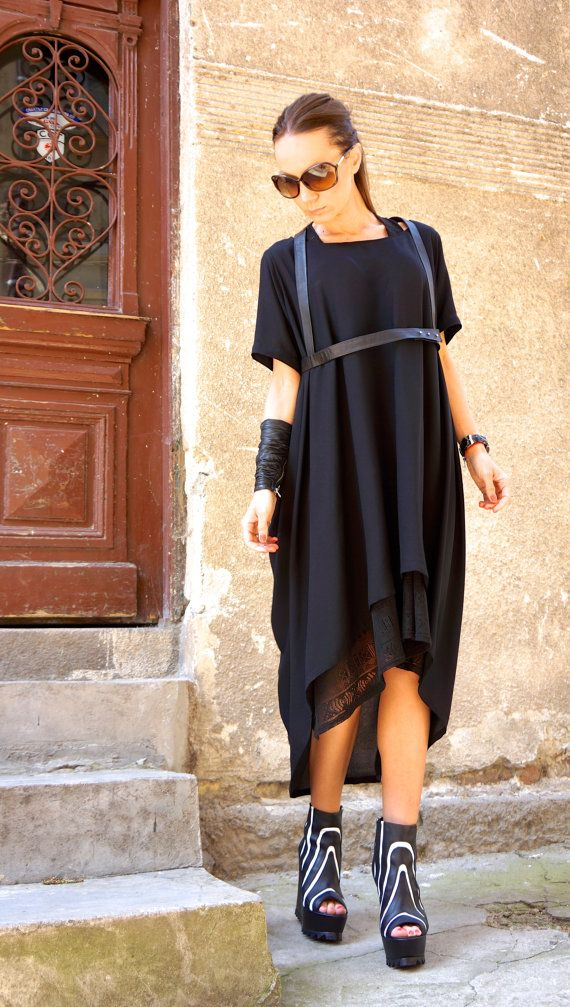 NEW Collection SS/15 Black Extravagant Leather Stripe by Aakasha