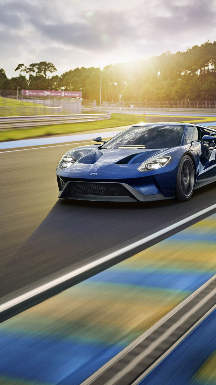 Ford Gt Supercar Race Trac On Road 720x1280 Wallpaper Ford Gt Super Cars Cool Sports Cars