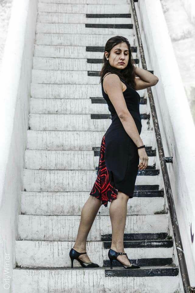 Val abanico tango skirt,  from Valparaíso, Chile