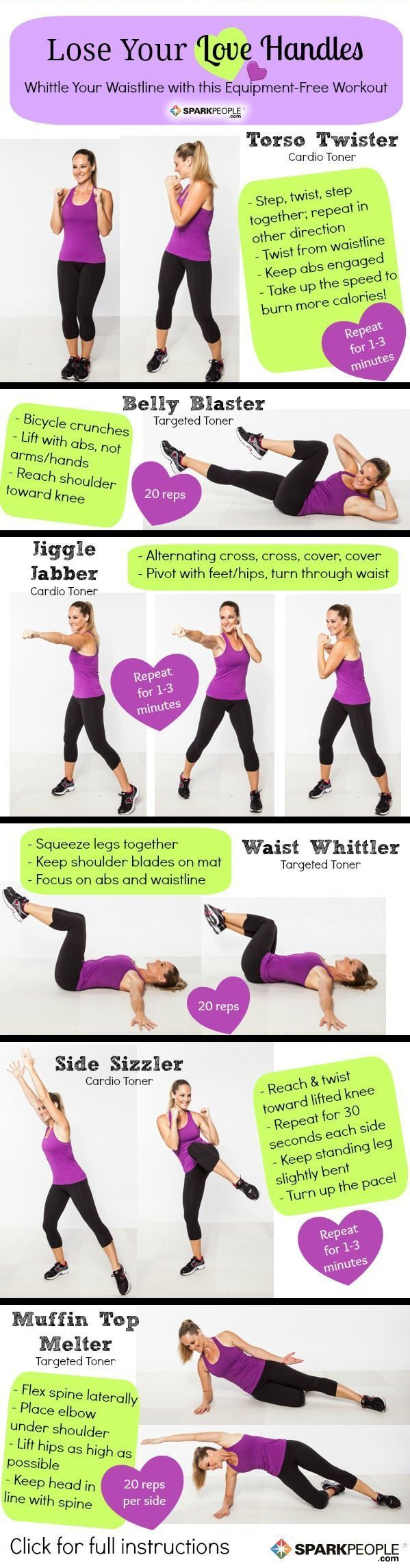 Lose Your Love Handles Workout Wish I could just pin these and have them take effect. Who wants to actually do these workouts?
