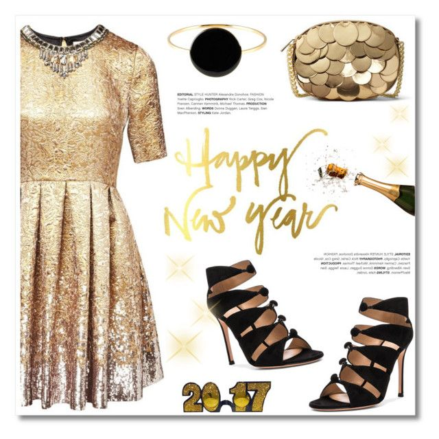 """Happy New Year!"" by helenevlacho ❤ liked on Polyvore featuring Matthew Williamson, Gianvito Rossi, MICHAEL Michael Kors, Isabel Marant, newyear and 2017"