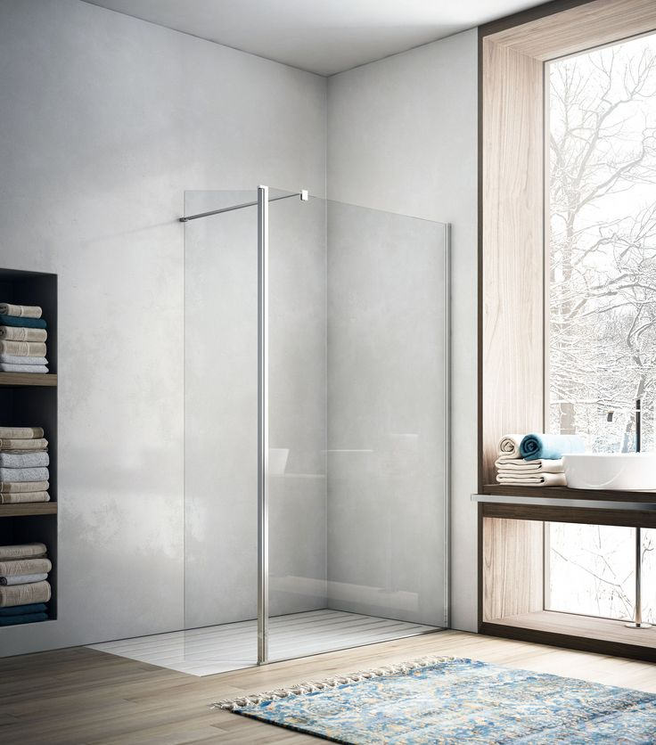Crystal shower door SOHO Showering Collection by Glass 1989