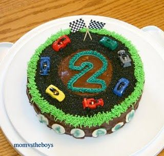 """ I like that racecar cake because it has the number 2 on it.  5 is next for me."""