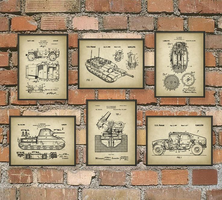 Military Patent Prints Set Of 6 - Army Art Posters - Military Vehicle - Military Equipment - Tank Design - Bedroom Wall Art by QuantumPrints on Etsy https://www.etsy.com/listing/264328090/military-patent-prints-set-of-6-army-art
