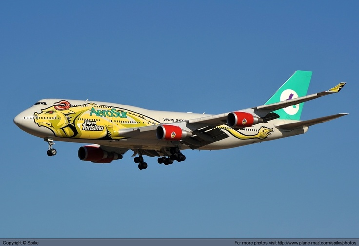 Aerosur Boeing 747-443 (registered CP-2603) landing at Madrid-Barajas