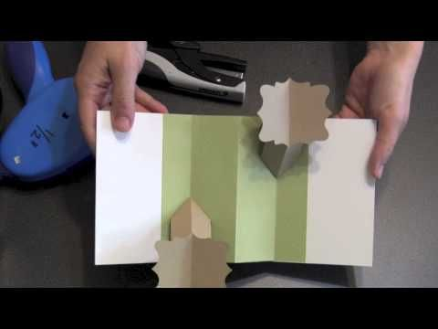 A video tutorial for making a spring-loaded double-fold pop-up card. This is a card that will amaze your family and friends!