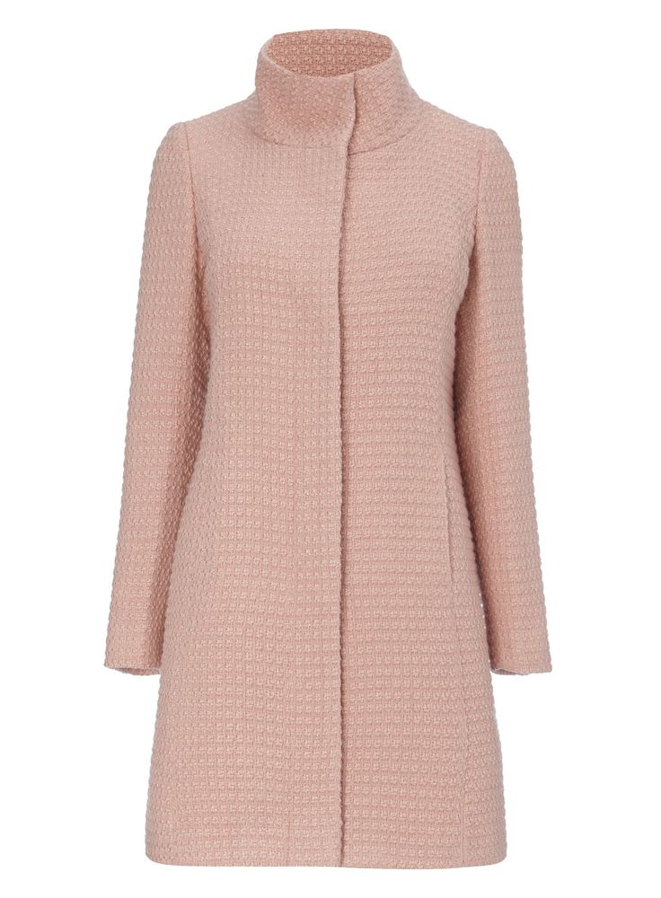 Pink Textured Coat from bhs