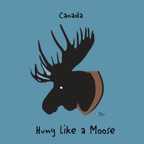 Canadian T-Shirt (Adult) - Hung Like a Moose - $19.95