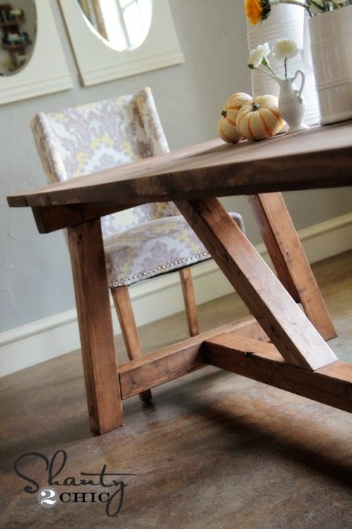 DIY Restoration Hardware Dining Table--$100!!!