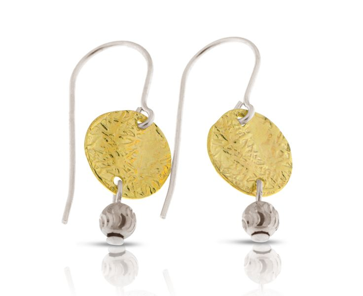 Trendy 925 Sterling Silver and Gold-filled Dangly Earrings