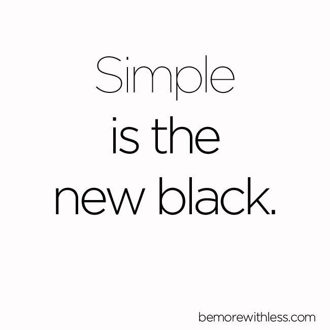Simple is the new black. minimalist capsule wardobe 333