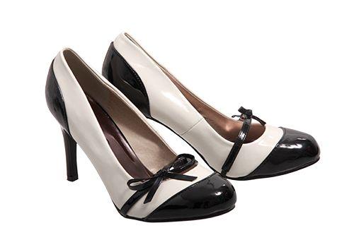 Black White Kelso heels