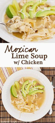 Mexican Lime Chicken Soup (adapted from an old Williams Sonoma Catalog) Ingredients 3 or 4 limes 3 bone-in, chicken breast halves (I remove...
