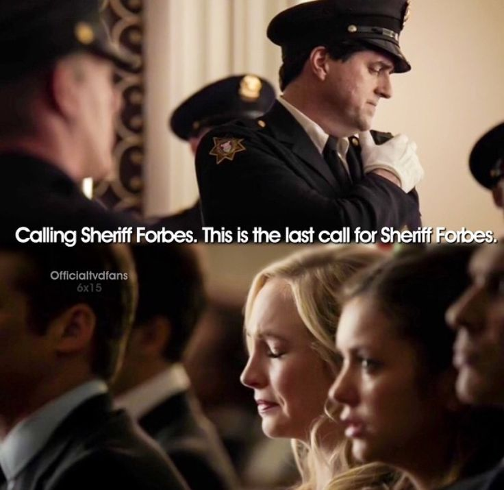 TVD season 6 | Sheriff Forbes' funeral. Is it just me or was this was the saddest part of the entire episode?