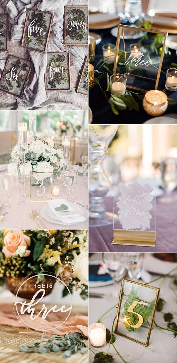 27 Inspiring Wedding Table Number Ideas For 2019 Table Numbers
