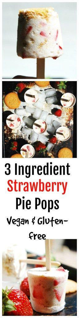 Vegan Strawberry Pie Pops (Gluten, dairy, egg, soy, peanut & tree nut free; top 8 free) Dessert recipe by AllergyAwesomeness.com  |vegan strawberry ice cream| |top 8 free ice cream| |allergy friendly ice cream|