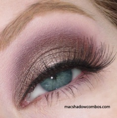 MAC Satin Taupe, Blackberry and Vanilla. Love this website!!  www.macshadowcombos.com