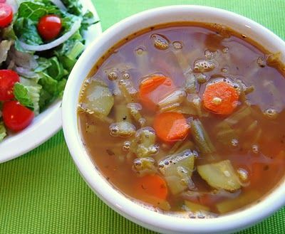 Weight Watchers 0 PTs Vegtable Soup  this is the soup I make all the time.  You can make it with veggie stock in stead of chicken stock.  I LOVE THIS SOUP!!!!
