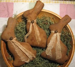 bunnies- how cute would it be to make these as cinnamon ornaments and use them as fragrant bowl fillers?