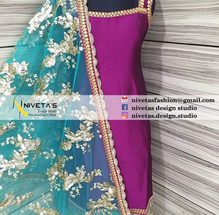 Hi we do customize party wear Punjabi salwar suit, Can be made in any color combination, Embroidery work or Fabric, bridal suit, Punjabi suit, Party wear Salwar suit, Customize Patiala salwar suit , reach us Whatsapp:-  +917696747289  E-mail:- nivetasfashion@gmail.com