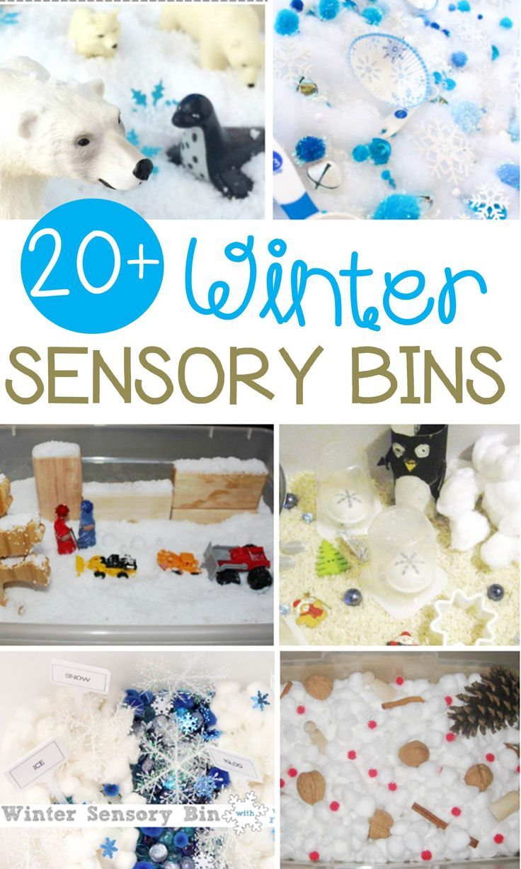 Sensory bins are great for kids and so engaging for sensory play! These winter sensory bins for kids are the perfect hands-on kids' winter activity! #sensory #sensorybin #preschool #kindergarten #teachersfollowteachers