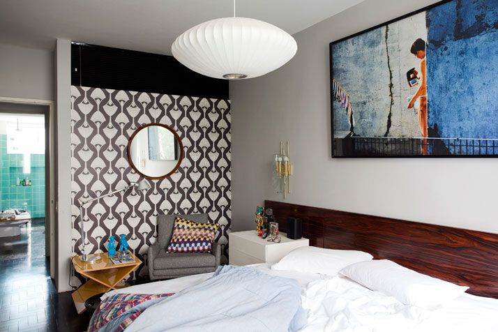 Mauricio Arruda Apartment // A Mid-Century Classic in São Paulo via Yatzer   Modernica George Nelson Saucer lamp   http://modernica.net/saucer-lamp.html
