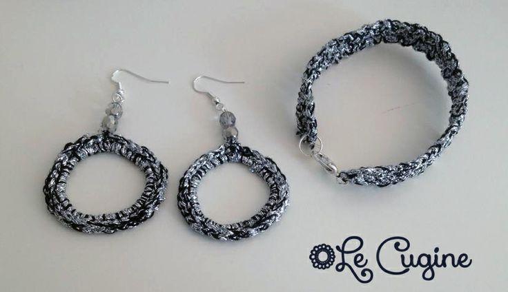 Lecuginecreazioni#handmade#crochet#parure#silver