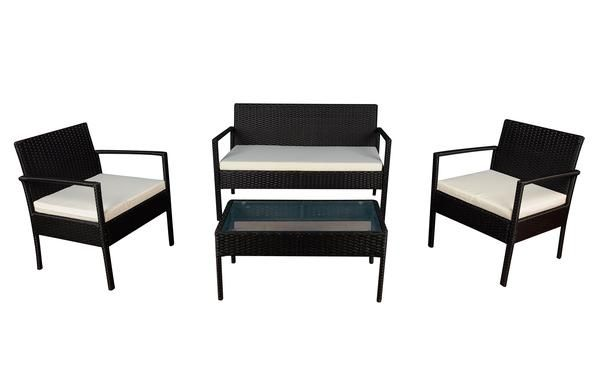 Mauna 4pc Modern Rattan Outdoor Set Outdoor Furniture Material Affordable Outdoor Furniture Outdoor Rocking Chairs