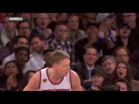 NBA TV   Mindaugas Kuzminskas Posterizes Cole Aldrich   Timberwolves vs Knick   2016  17