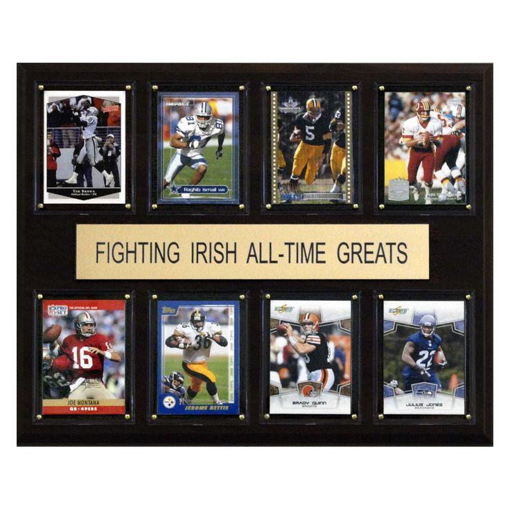 NCAA 12 x 15 in. Football Notre Dame Fighting Irish All-Time Greats Plaque - 1215ATGIRISH