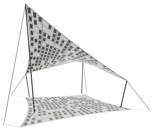Tensile Solar: estructuras textiles con láminas solares