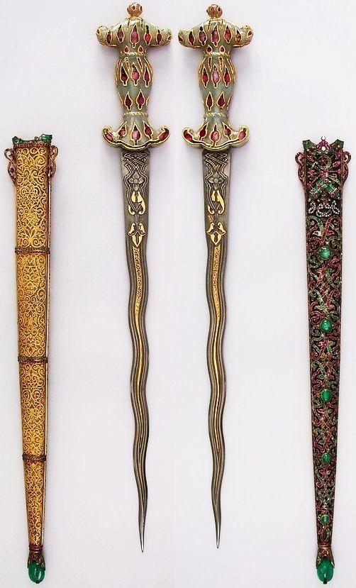 大都会博物馆收藏的印度或波斯匕首-艺品中...