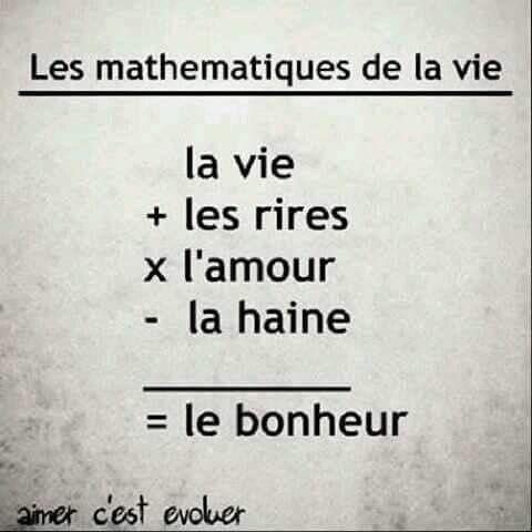 Les mathématiques de la vie.
