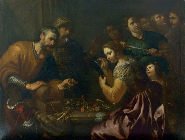 """Orazio de Ferrari """"Ulisse che scopre Achille tra le figlie di Licomede"""" - around 1650, oil paintingBriganti expertise."""