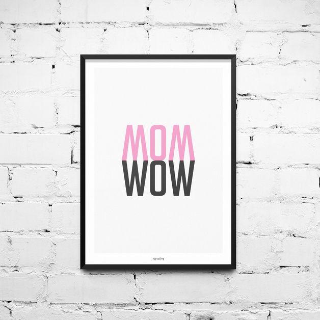 Originaldruck - Kunstdruck Poster / Wow - ein Designerstück von typealive bei DaWanda