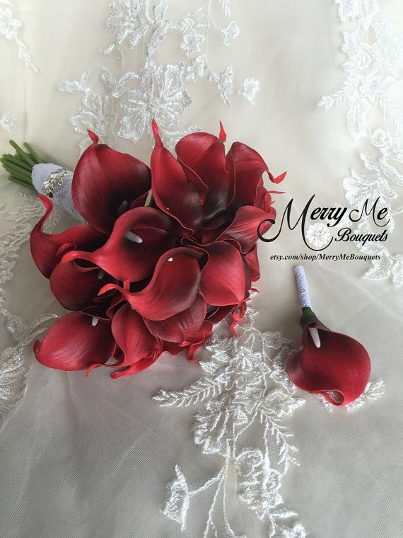 Hey, I found this really awesome Etsy listing at https://www.etsy.com/listing/254715355/red-calla-lily-bouquet-red-bouquet-red