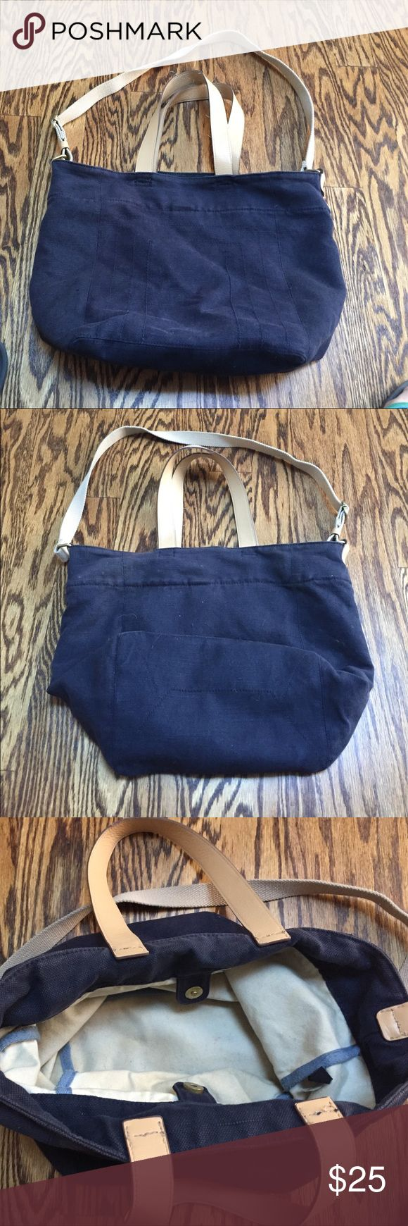 Blue GAP Tote Bag Used. Some wear and tear, but has a lot of life left in it. See pictures. GAP Bags Totes