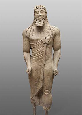 Kouros. Cypriot, 550-500 B.C.E. | Kunsthistorisches Museum di Vienna