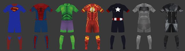 Kits para PES (Pro Evolution Soccer) y Firs Touch Soccer.: DC y MARVEL. Kits Pes